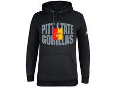 Pitt State Gorillas Bulge Print Adidas ClimaWarm Men's Hoodie - Black