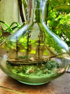 Ship in a bottle - made by Ignazio Cogoni