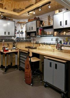 Dream space for hubby. How to Build a Workshop in Garage                                                                                                                                                      More