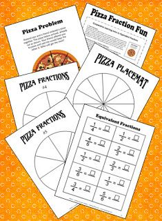Equivalent Fraction Pizza Fun Freebie from Laura Candler