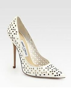 JIMM Choo Anouk 120 Perforated Nappa Leather Chalk Size 37 Wedding WHITE Pumps. Get the must-have pumps of this season! These JIMM Choo Anouk 120 Perforated Nappa Leather Chalk Size 37 Wedding WHITE Pumps are a top 10 member favorite on Tradesy. Save on yours before they're sold out!