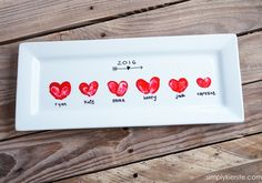 Heart Thumbprint Platter | simplykierste.com