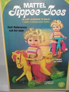 """1967 Tippee Toes, 17"""" tall, plastic jointed body with vinyl head and rooted hair."""