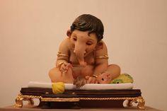 And happy birthday bappa. Clay Ganesha, Ganesha Painting, Ganesha Art, Lord Ganesha, Lord Shiva, Shri Ganesh Images, Sri Ganesh, Ganesh Jayanti, Wicca