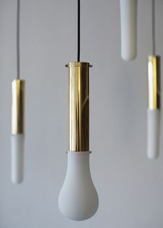 Shades for the brass Make Lamp by Hanieh Heidarabadi can be custom 3D-printed