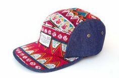 137f12358ca Aztec Denim 5 Panel Camp Cap Camper Hat New Supreme Style Blue