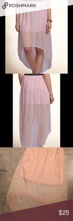 HOLLISTER HIGH LOW SKIRT NEVER WORN. All link no black waistband Hollister Skirts High Low