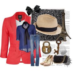 Stroll in paris, created by patricia-teixeira on Polyvore