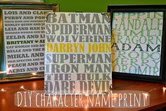 The Domestic Geek: Super Hero Character Print
