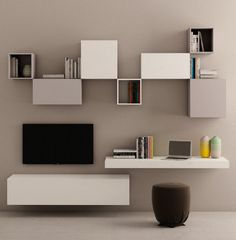 Ultramodern, Contemporary U0027Latteu0027 TV Unit By Morassutti