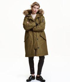 Padded Parka | Khaki green | Ladies | H&M US