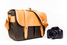 The Classic Leather Camera Satchel  $190