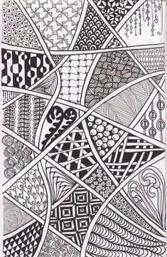 We've been requested to do more Zentangles with the Trekkers & Teens. From time-to-tangle.blogspot #Zentangle