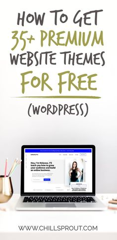 How to get premium website themes for free - Chillsprout Digital Marketing Strategy, Business Marketing, Content Marketing, Online Marketing, Business Writing, Business Tips, Online Business, Website Themes, Online Entrepreneur