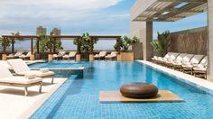 Rooftop pool at the Four Seasons Hotel Mumbai