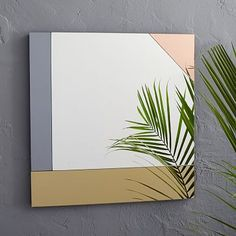 Colorblocked Mirror - Square #westelmKinda cool...but we'd need like 3 mirrors to do it sideways