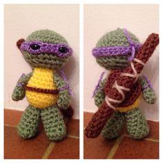 Teenage mutant ninja turtle crochet amigurami - Donatello