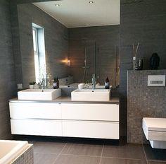 I would do round sinks Round Sink, Duravit, Modern Rustic, Double Vanity, Shower, The Originals, Instagram, Sinks, Bathrooms