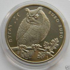 Ukraine 2002 RARE Coin Eagle Owl Bubo Bubo KM 155 Bird Fauna | eBay