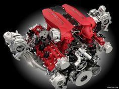 Engine Ferrari 488 GTB 2016