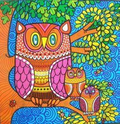 Colorful Owl Illustration