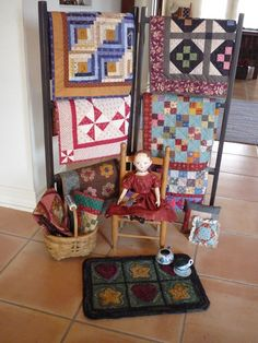 Awesome quilt display rack.