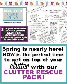 clutter declutter tips