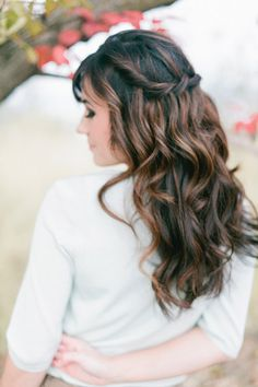want this hair! it's a waterfall braid with some kind of twist.