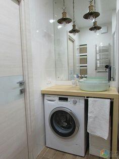 Bathroom Shelves Modern Laundry Rooms Ideas For 2019 Bathroom Design Small, Bathroom Interior Design, Bath Design, Modern Laundry Rooms, Laundry In Bathroom, Bathroom Shelves, Ideas Baños, Small Tub, Small Sink