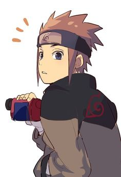 Is this Tsunade's little brother Senju Nawaki? Nope it's Sarutobi Konohamaru