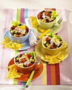 Mexiko-Salat mit Chilicreme