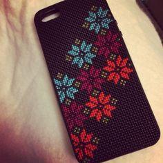 Cross stitch iPhone case