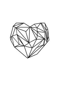Retro Heart Print Geometric Heart washi tape maybe?
