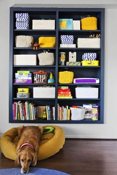"""9 Ways to Make All Your Clutter Look Gorgeous Without Throwing Anything Out: HIDE THINGS IN PLAIN SIGHT. """"Storage bins are my favorite magic trick,"""" says Soria. """"If you have lots of small things to store, use crates or baskets."""" Combining containers of different styles (try mixing a neutral, a bright color, and a pattern) looks fresh, no matter what's inside. But measure the depth of the shelf before you buy anything!"""