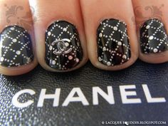Chanel - Manicure Photo by girlswear Get Nails, Fancy Nails, Love Nails, Hair And Nails, Beautiful Nail Art, Gorgeous Nails, Pretty Nails, Chevron Nails, Nail Art Chanel