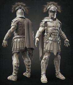 The Centurion- Clay, Damon Woods on ArtStation at https://www.artstation.com/artwork/the-centurion-clay