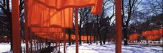 The Gates Nov 20, 2014 7 PM  In February 2005, artists Christo and Jeanne-Claude installed 7,500 arches (gates) with orange cloth curtains that waved and billowed along the walkways in Central Park. The Gates stood for 16 days, the first one unfurled by Mayor Bloomberg, who championed the project. Archival footage shows pro-and-con debates and various mayors and commissions turning down the project. In the end, art dwarfs the naysayers.