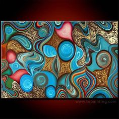 Abstract oil paintings on canvas
