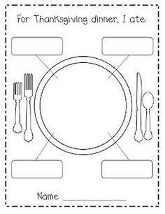 For Thanksgiving Dinner, I Ate.Free printable for after Thanksgiving Kindergarten Writing, Kindergarten Classroom, Writing Activities, Classroom Activities, Literacy, Classroom Ideas, Teaching Resources, Kindergarten Portfolio, Bilingual Classroom