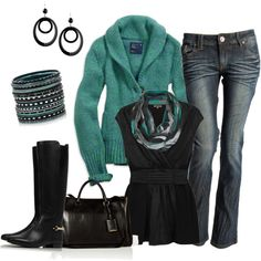 Black and Green, created by smores1165 on Polyvore