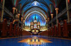Notre-Dame Basilica in Montreal, Canada