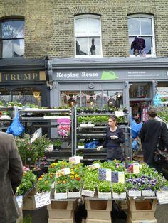 Columbia road sunday flower market -London