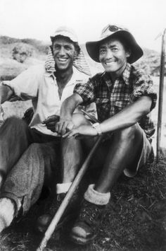 It's been well over half-a-century since Sir Edmund Hillary and Tenzing Norgay became the first climbers to summit the world's tallest mountain Everest.   Moving down after triumph, Hillary and Tenzing are still united and delighted. July 13, 1953. Photo: James Burke -Time & Life Pictures/Getty Images