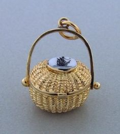 Every girl needs a nantucket basket. This one is gorgeous, scrimshaw on the top with a schooner etched into it. Cape Cod Bracelet, Cape Cod Jewelry, Cap Cod, Nantucket Baskets, Unique Diamond Rings, Nautical Jewelry, Mothers Day Presents, Jewelry Stores, Jewelry Box