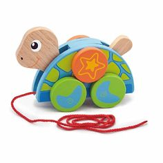 Viga Wooden Pull-Along Turtle