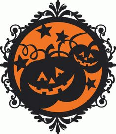 halloween pumpkin frame by Miss Kate Cuttables Design ID #95659 Published: 9/18/2015 Regular cut