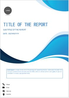 Cover Page Of Report Template In Word Cover Page Template Word, Word Template Design, Report Template, Layout Template, Page Design, Cover Design, Company Profile Design, Professional Presentation Templates, Cover Report