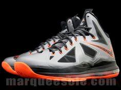 Nike LeBron X: Silver/Orange Colorway - Style Engine