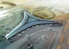 foster + partners - kuwait international airport