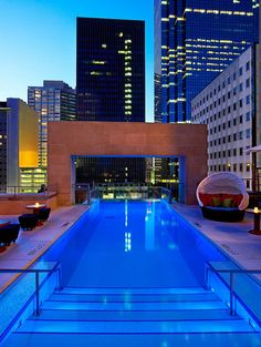 Rooftop Pool at The Joule Hotel in Dallas, TX